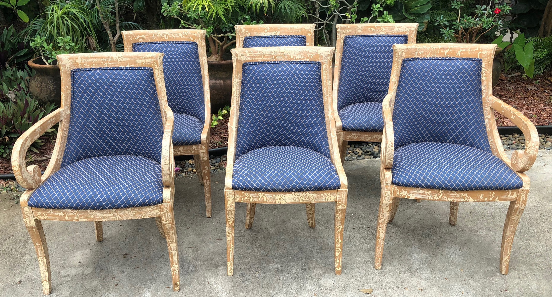 Crackle Finish Chairs (set of 6)