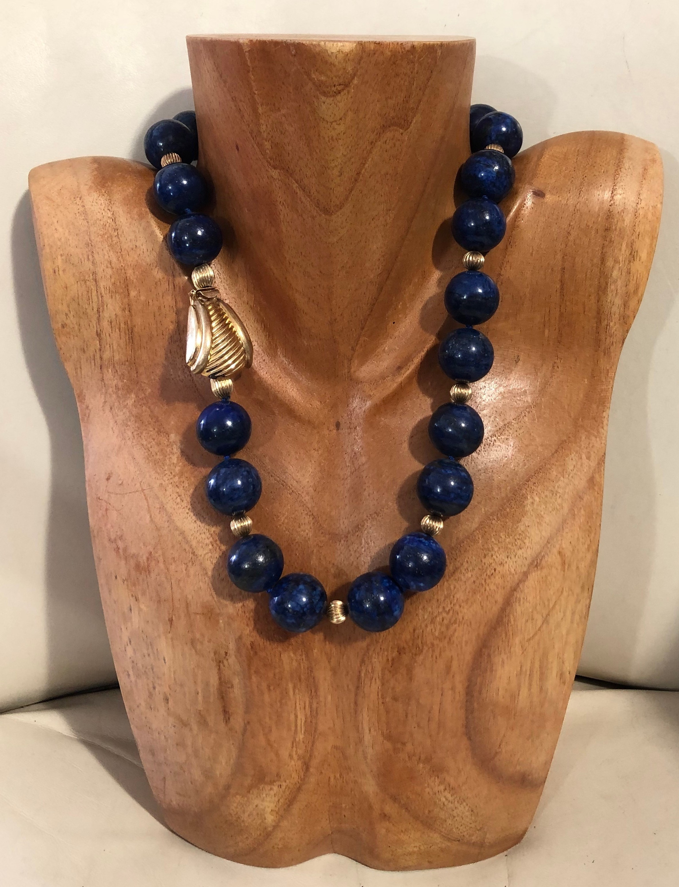 Lapis with 14K Gold Clasp