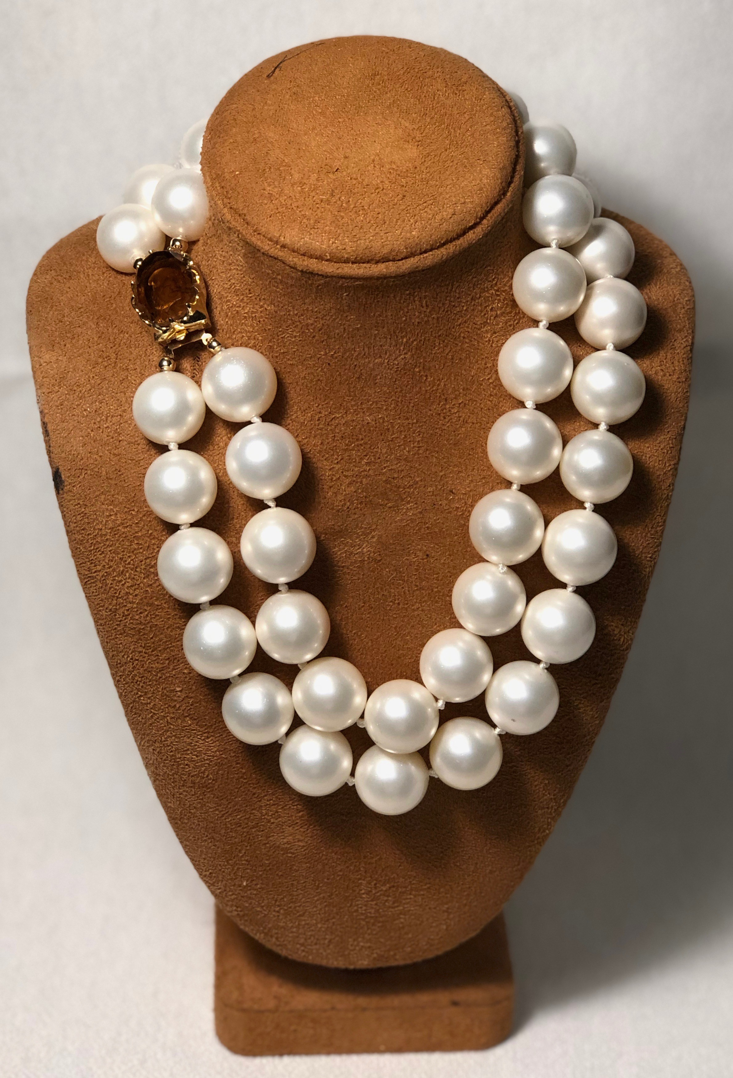 DM16-20MM Blanco Double Strand Pearl